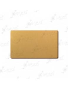 Бейдж 70х40мм без окна (золото глянец SU21), под сублимацию, упаковка 10шт 11640