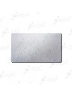 Бейдж 70х40мм без окна (серебро шлиф SU31), под сублимацию, упаковка 10шт 11643