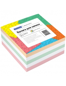"Блок для записей 90х90х50мм цветной ""Спейс"" <КБ9-5 Цн> 153174"