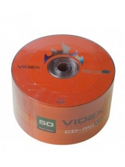 CD-RW VIDEX 700MB 80мин.4-10x в пленке (50шт.) 2000115230017