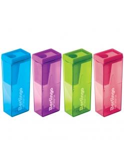 """Точилка пластм.с контейнером """"NeonBox"""", цвета ассорти <BBp_15008>""""Berlingo"""" 252131"""