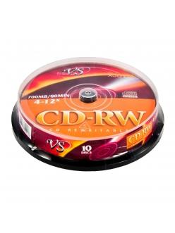 CD-RW VS 700MB 80мин.4-12x тех.уп. (10шт.) 4607147620236
