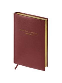 """Ежедневник А5 136л. недатированный """"Dallas"""" коричневый, кожзам, золотой срез <En5v_25208> """"Спейс"""" 278714"""