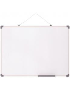 """Доска белая офисная  450х600мм (магнитно-маркерная) рамка ПВХ, полочка """"OfficeSpace"""" 307554"""