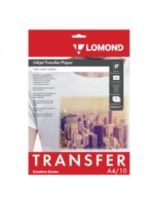 Термотрансферная бумага на светлую ткань для струйн.принт. А4 140г/м 10л. LOMOND 0808411
