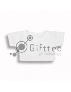 Мини-футболка на мягкую игрушку БЕЛАЯ, синтетика/хлопок (джерси) 10686