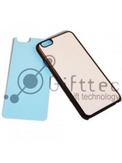 Iphone 6 - Черный чехол пластиковый (вставка под сублимацию) 11090