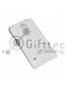 Samsung S5 - Белый чехол глянцевый пластик (для 3D-машины вакуумной) 11093