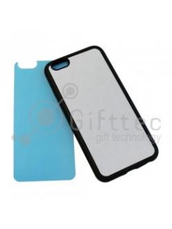 IPhone 6 - Черный силиконовый чехол (вставка под сублимацию) 11156