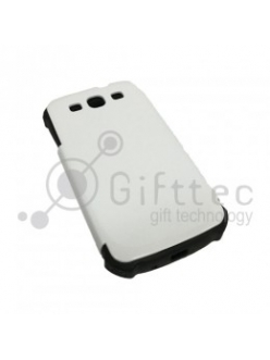 Samsung Galaxy S3 - Белый чехол глянцевый пластиковый с силконовым бампером (для 3D-машины вакуумной) 11160