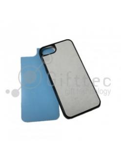 IPhone 7 - Черный чехол пластиковый (вставка под сублимацию) 11178