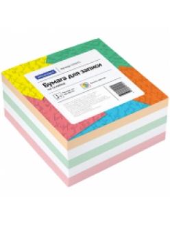 """Блок для записей 90х90х50мм цветной на склейке """"Спейс"""" 153175"""