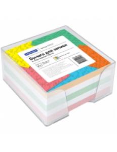 "Блок для записей 90х90х50мм цветной, пластик.бокс <КБ9-5> ""Спейс"" 153176"
