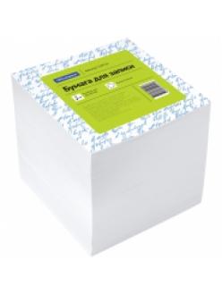 "Блок для записей 90х90х90мм 1000л. белый, пластик.бокс ""Спейс"" 159722"
