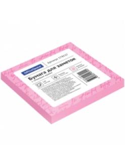 """Бумага самоклеящаяся 75х75мм/100л. св.розовая """"OfficeSpace"""" 178227"""