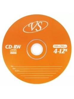 CD-RW VS 700MB 80мин.4-12x без.уп. 2000013880017