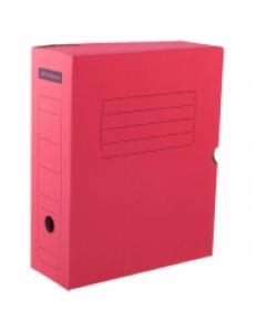 """Короб архивный А4 (100мм) микрогофрокартон """"OfficeSpace"""" красный 225407"""